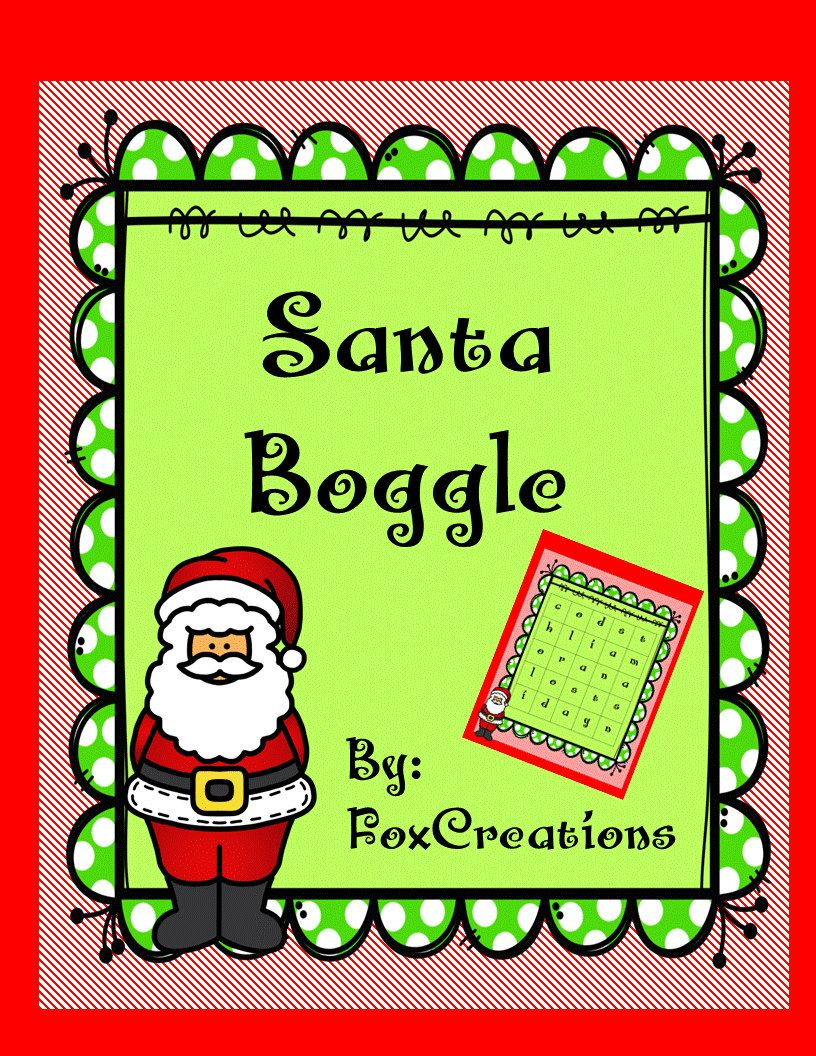 Christmas Boggle Holiday Printable Games Work Parties   Etsy