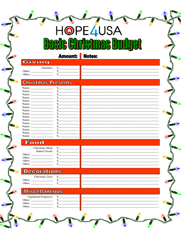 Christmas Budget Template - 4 Free Templates In Pdf, Word