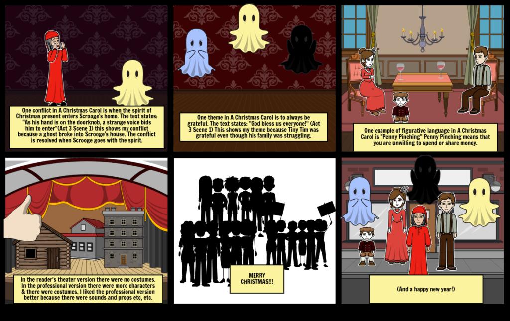 Christmas Carol Comic Storyboard244Fd665