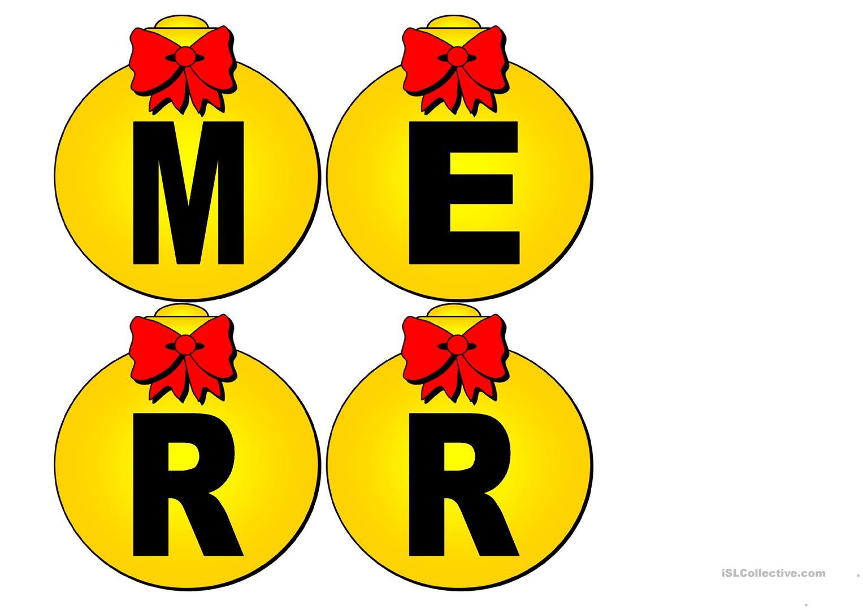 Christmas Carol Printable Set - English Esl Worksheets For