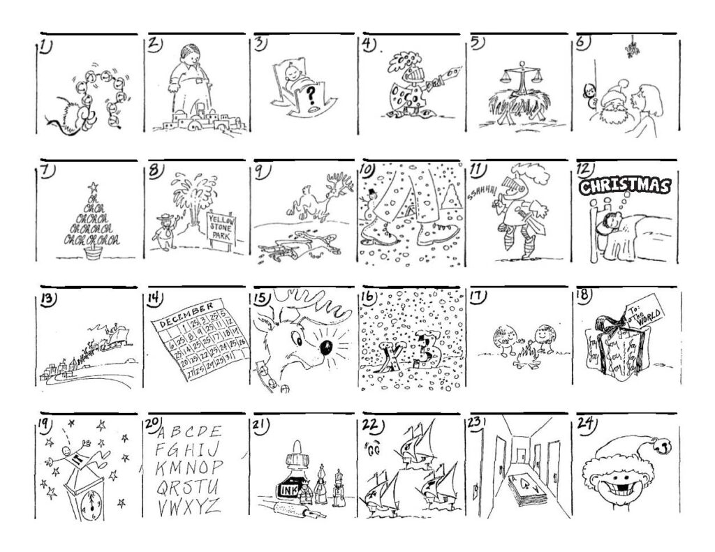Christmas Carol Puzzles – The Button Down Mind