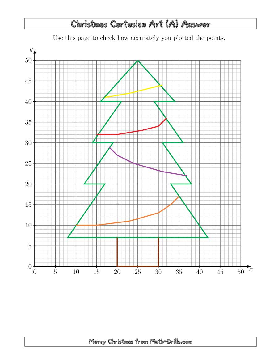 Christmas Cartesian Art Tree (A)