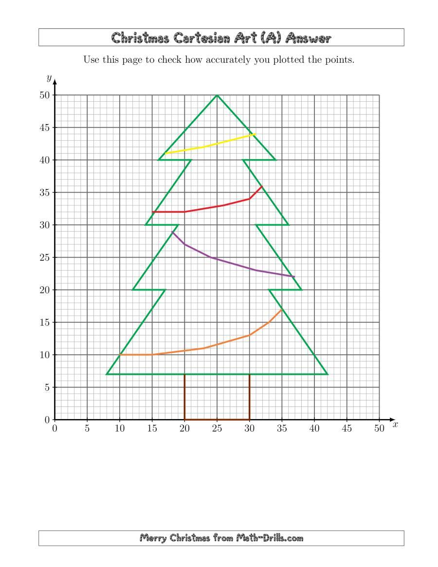 Christmas Cartesian Art Tree (A)
