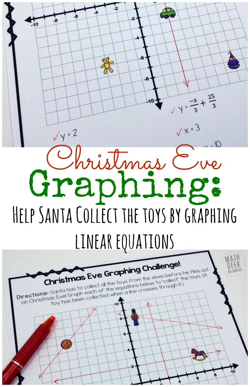 Christmas Challenge: Graphing Linear Equations Practice {Free}