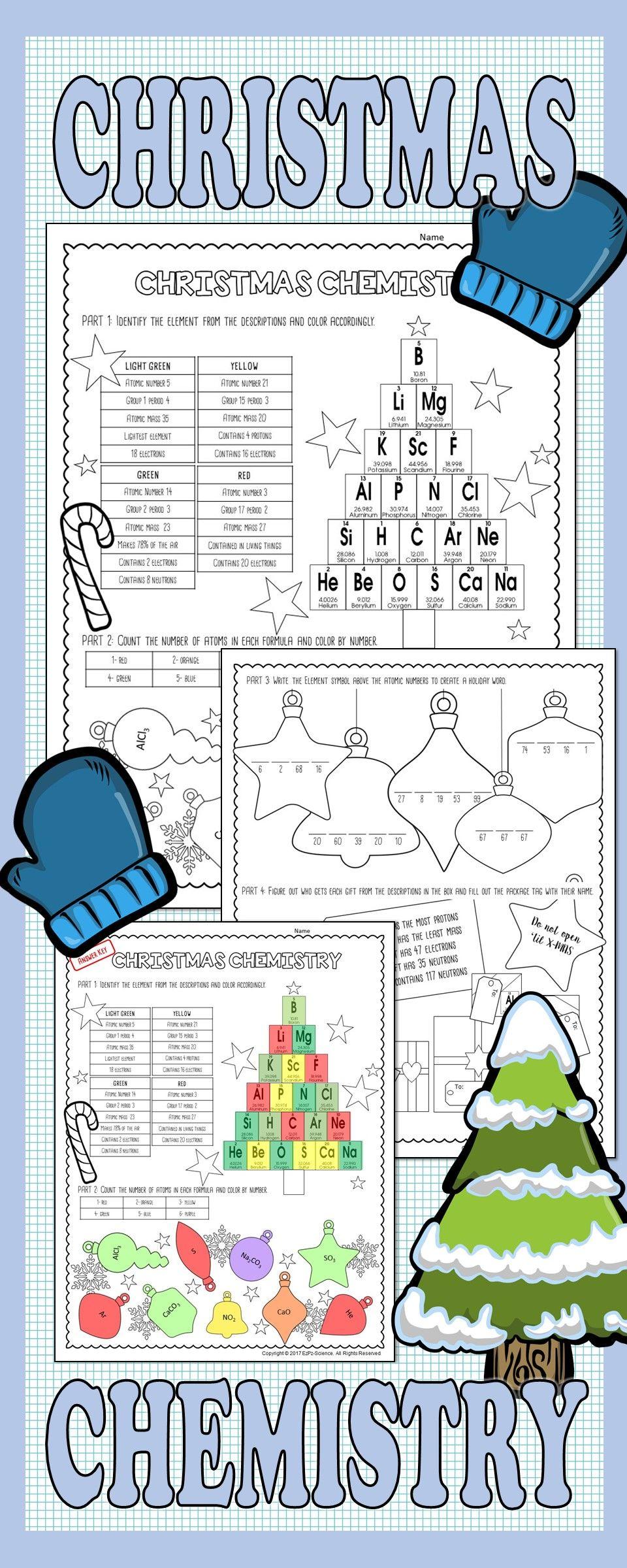 Christmas Chemistry   Chemistry, Christmas Words, 8Th Grade