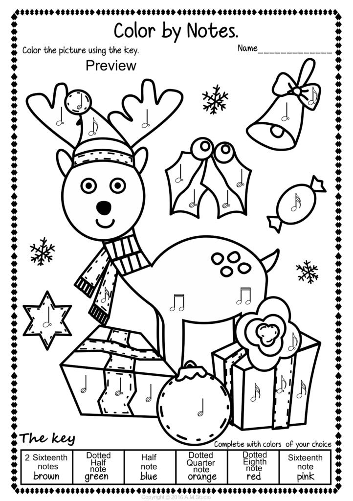 Christmas Colormusic Pack   Christmas Music Activities