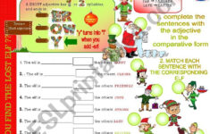 Christmas Adjectives Worksheet Pdf
