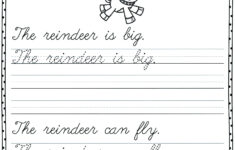 Christmas Cursive Writing Worksheets