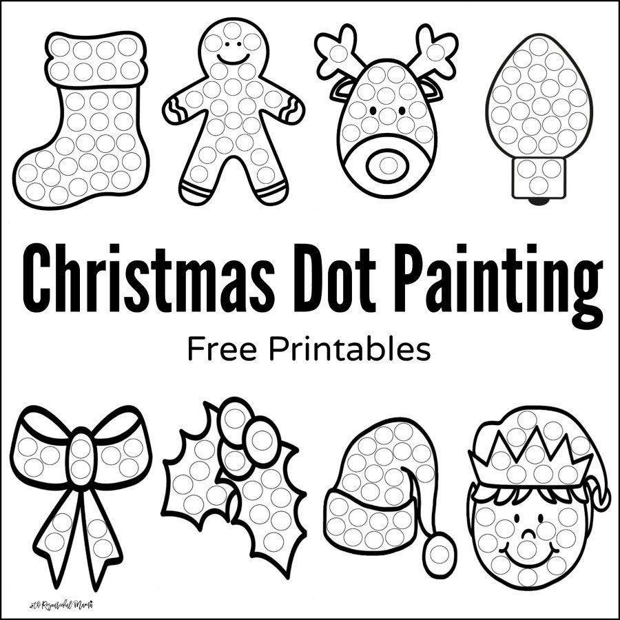 Christmas Dot Painting {Free Printables}   Preschool