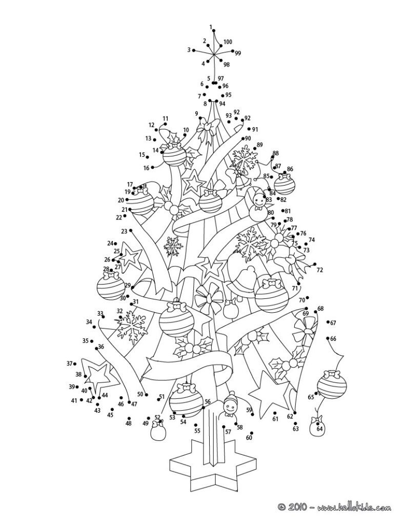 Christmas Dot To Dot   24 Free Dot To Dot Printable