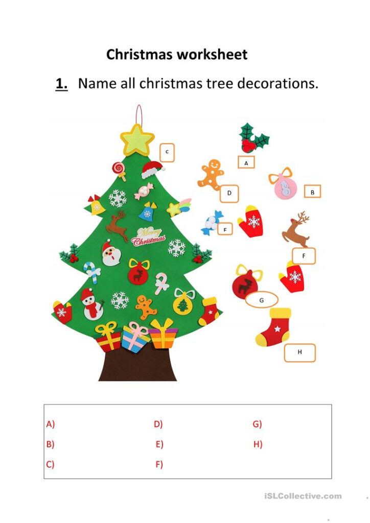 Christmas   English Esl Worksheets For Distance Learning And