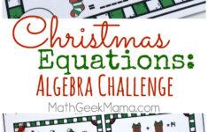 Christmas Equations Worksheet