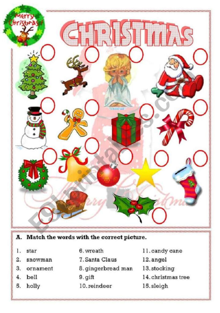 Christmas   Esl Worksheetisaserra