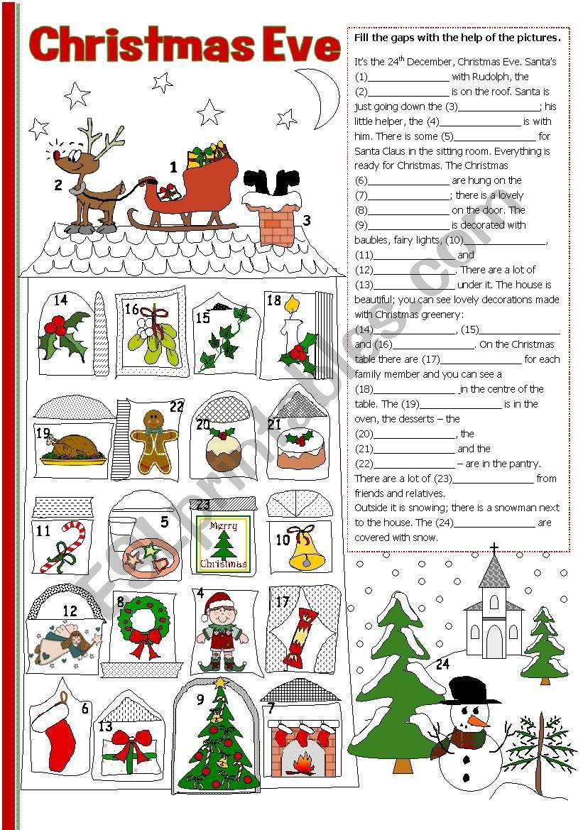 Christmas Eve Esl Worksheettecus Time Worksheets