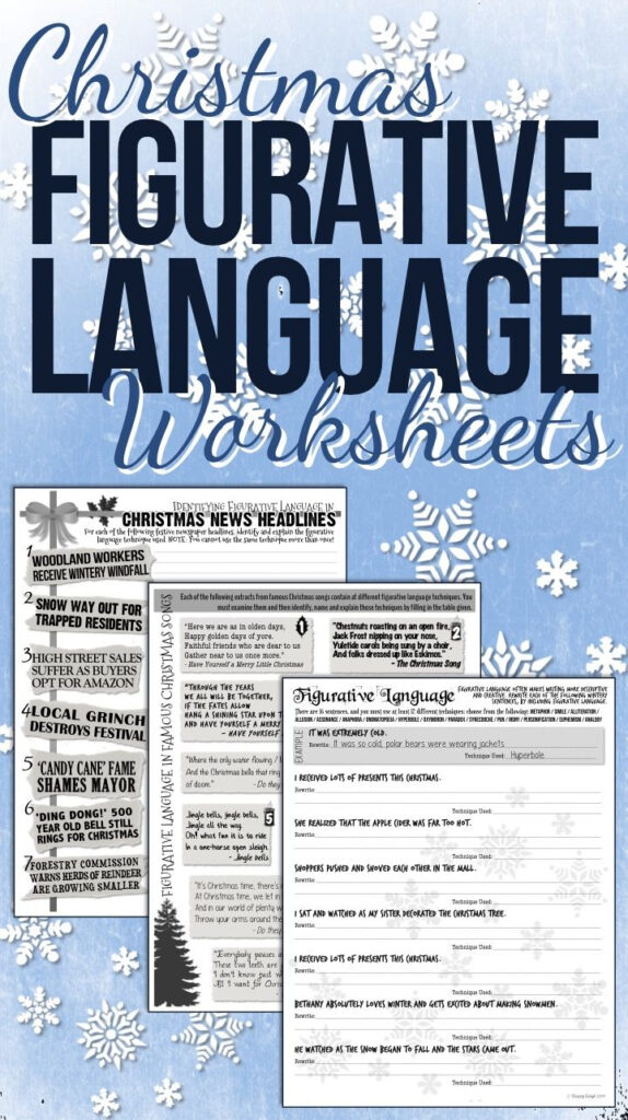 Christmas Figurative Language Worksheets   Ela Lesson Plans