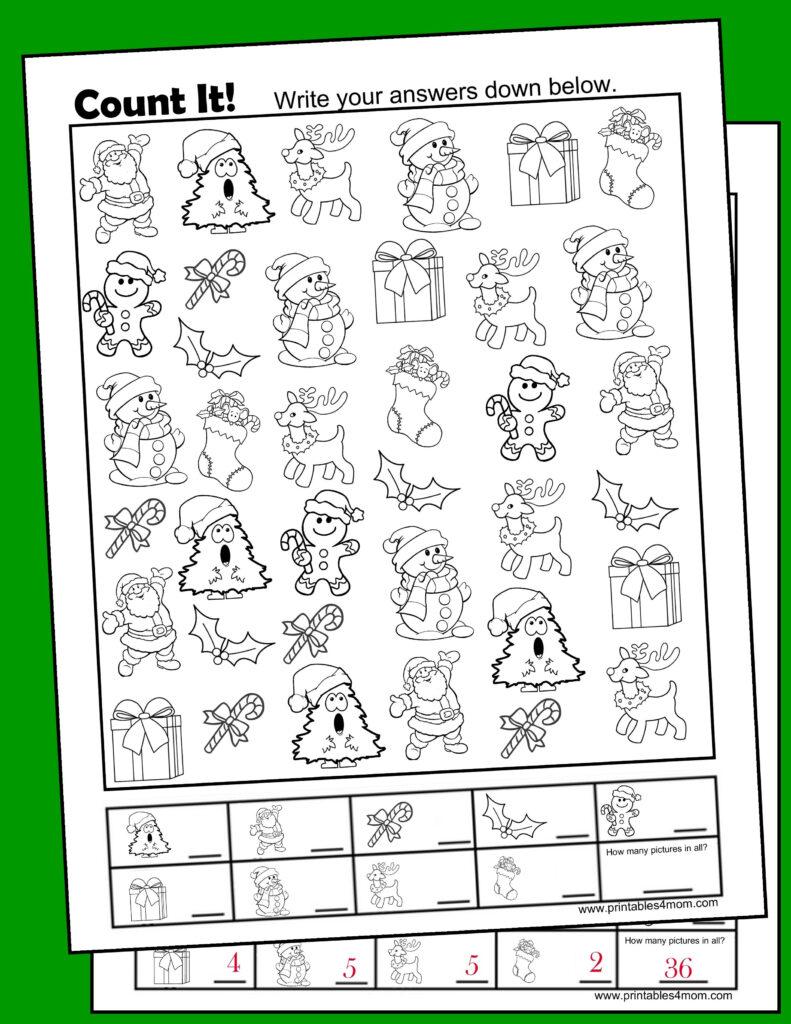 Christmas Free I Spy Printable Activity   Printables 4 Mom