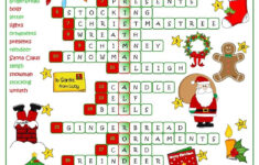 Christmas Fun – Crossword | Christmas Worksheets, Christmas