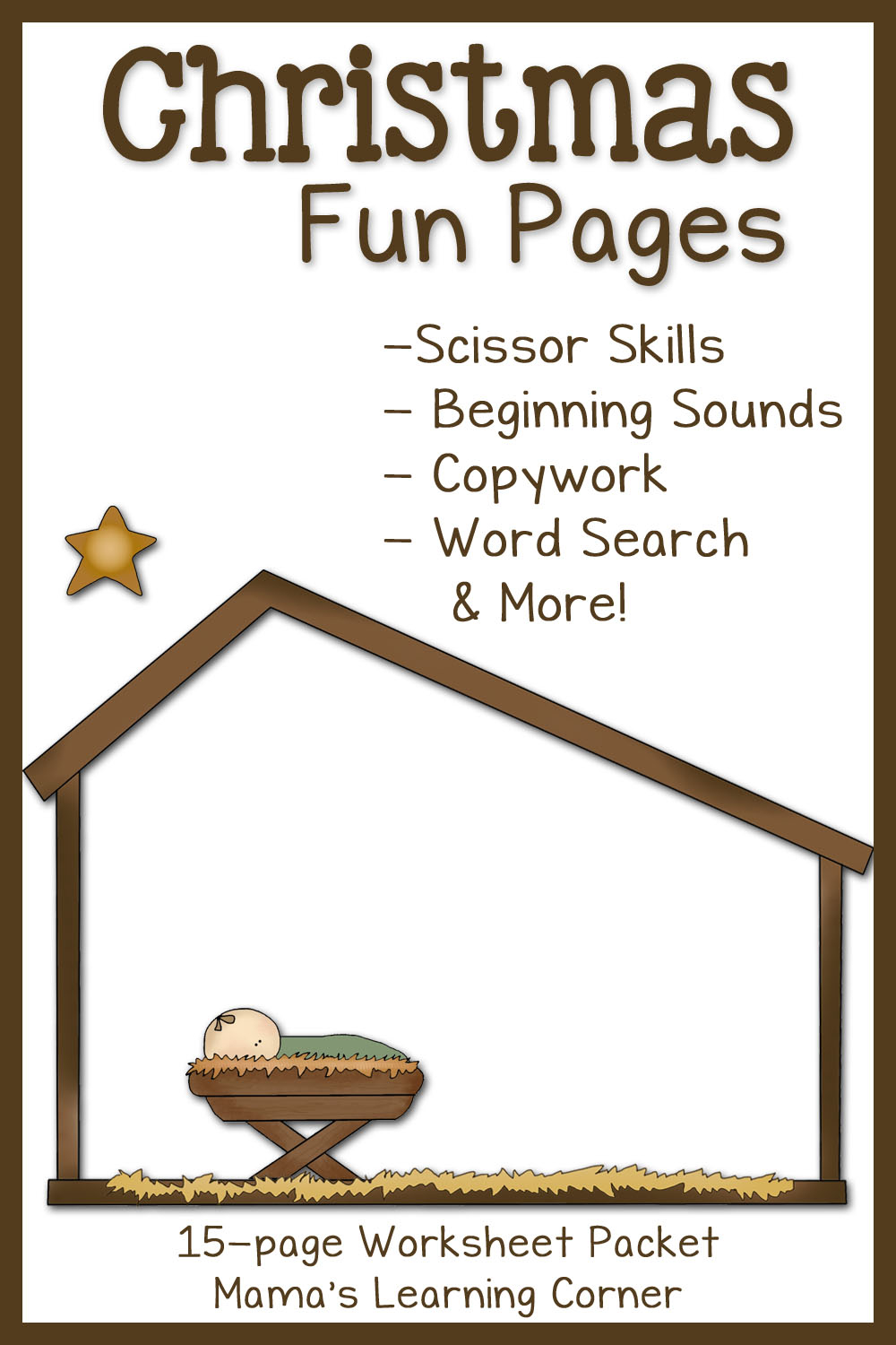 Christmas Fun Pages: Free 15-Page Worksheet Set - Mamas