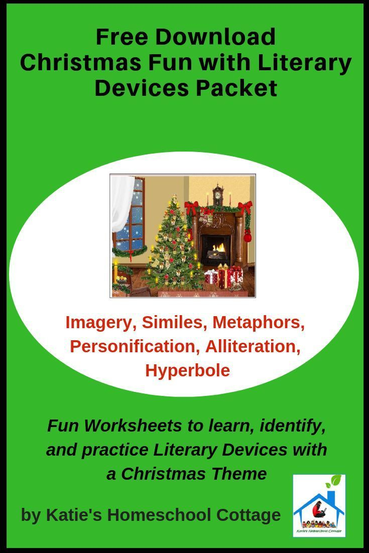 Christmas Fun With Literary Devices Packet - Katie's