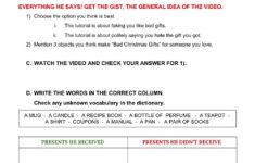 Christmas Gift Worksheet