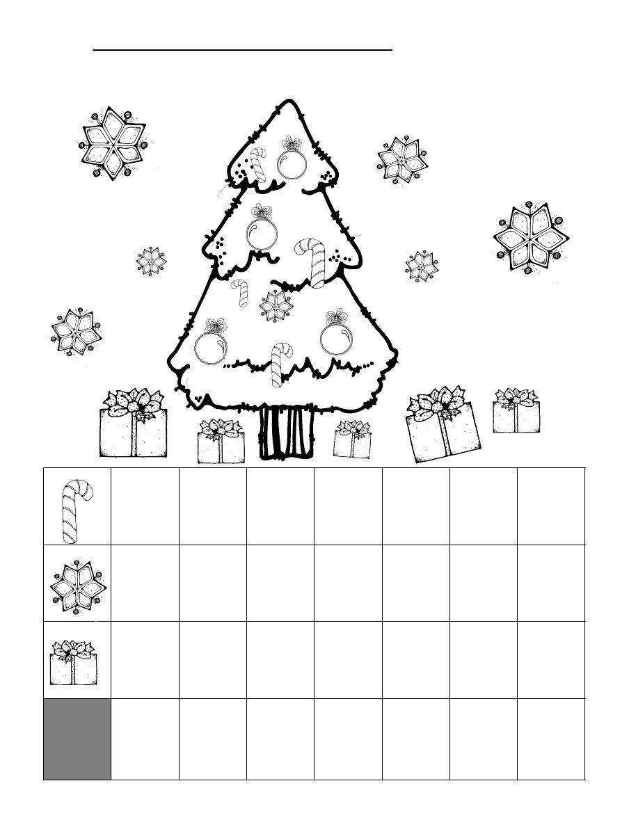 Christmas Graphing Worksheet   Christmas Math Worksheets