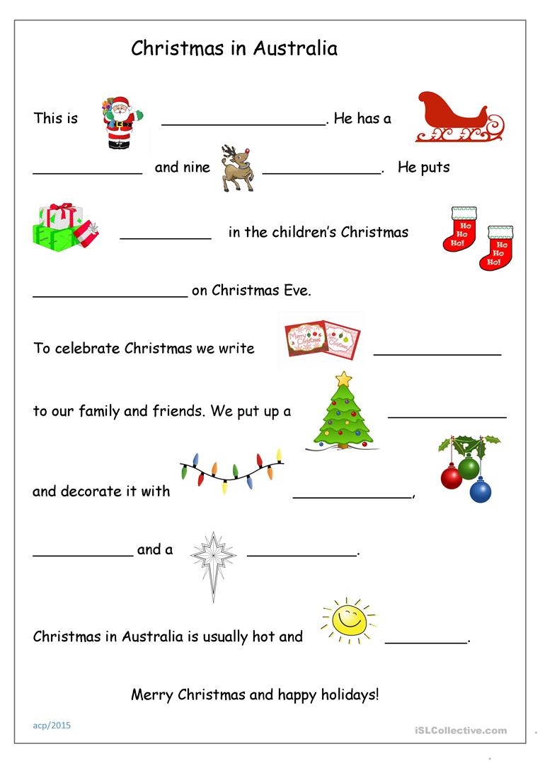 Christmas In Australia - English Esl Worksheets For Distance