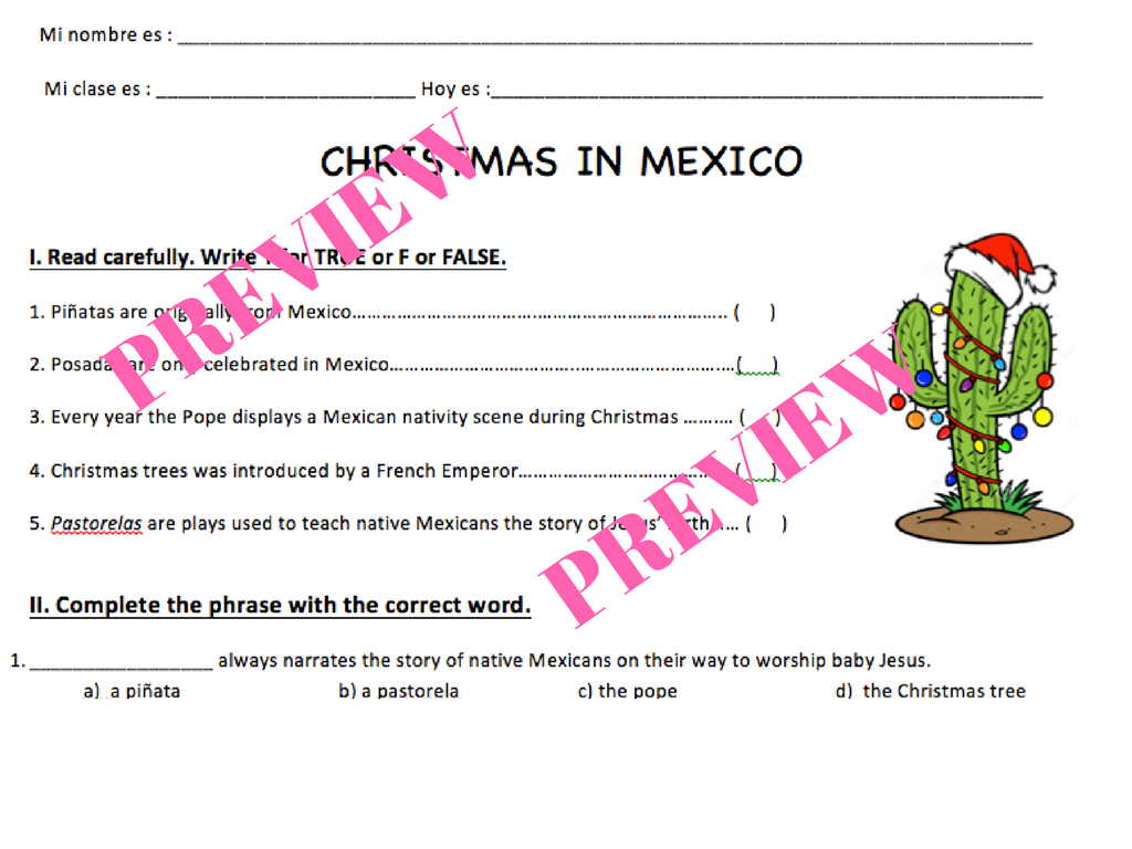 Christmas In Mexico - Lesson Plan