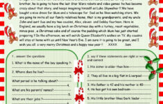 Easy Christmas Reading Comprehension Worksheets
