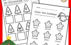 Christmas Letter Recognition Worksheets