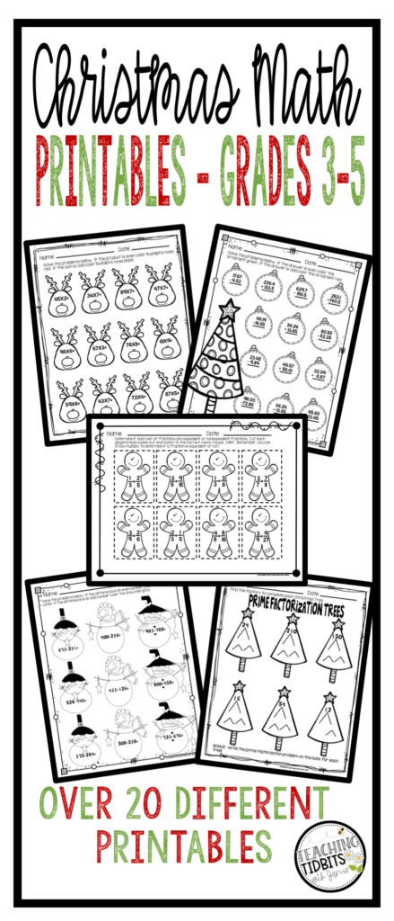 Christmas Math, Christmas Math Worksheets, Christmas Math