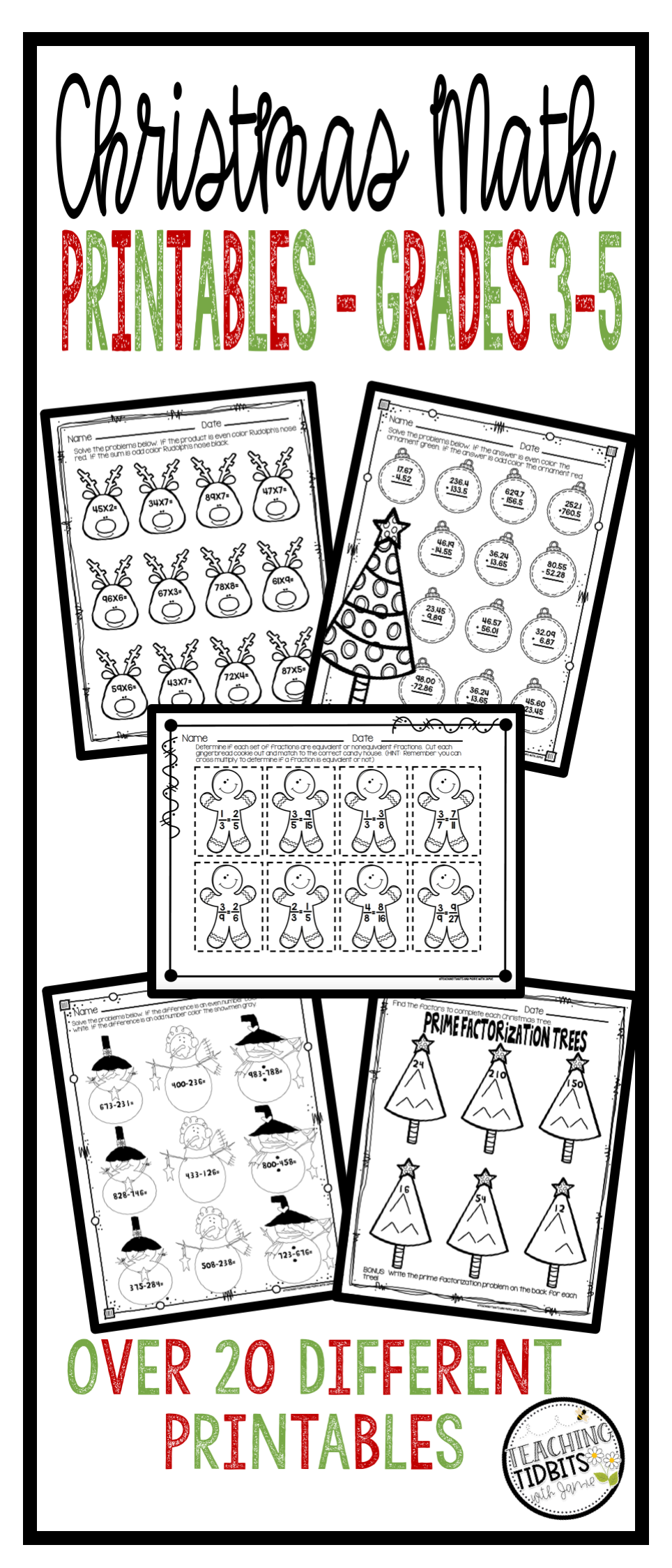 Christmas Math, Christmas Math Worksheets, Christmas Math