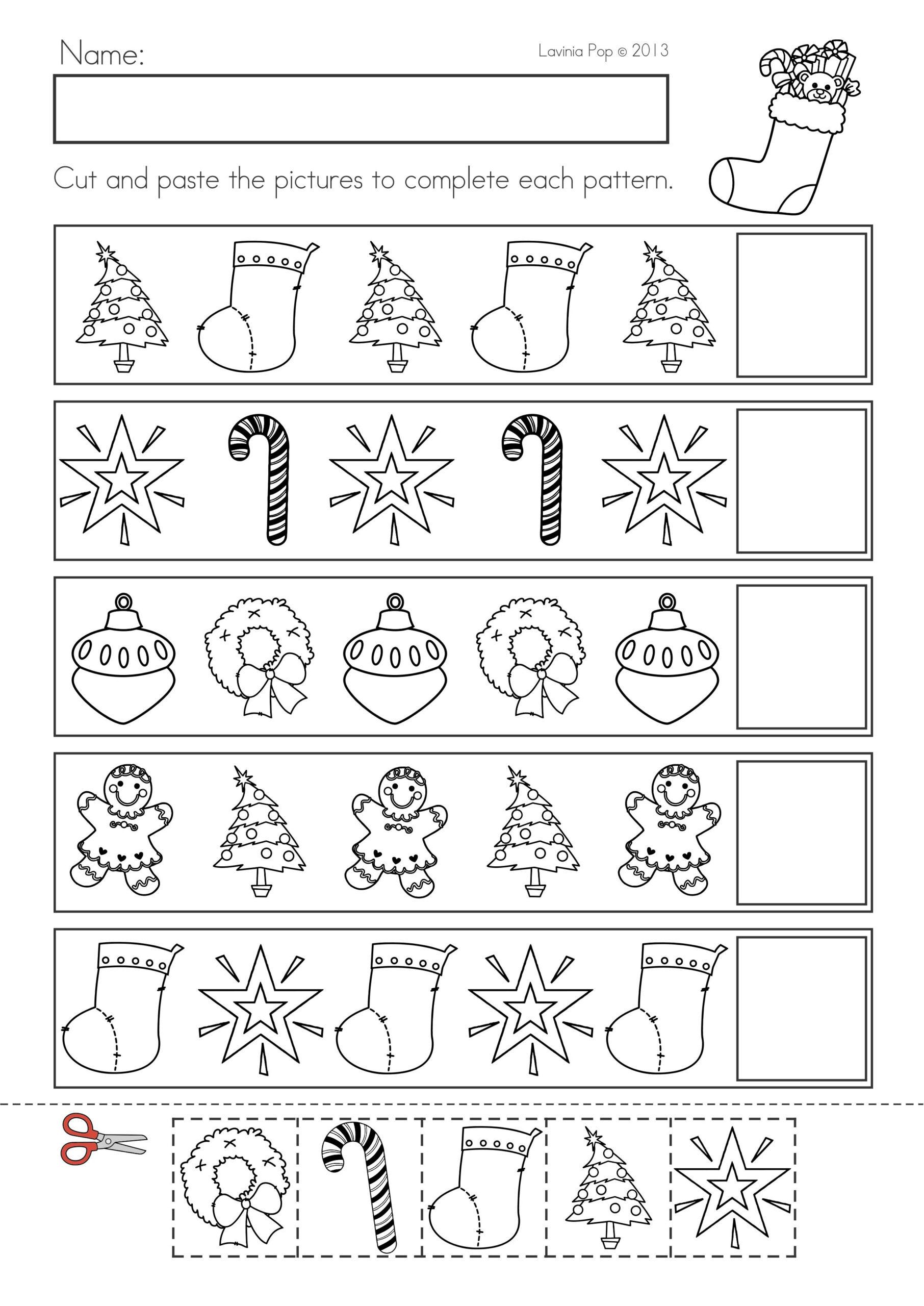 Christmas Math & Literacy Worksheets & Activities No Prep