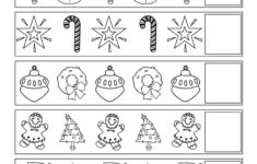 Christmas Pattern Worksheet Kindergarten