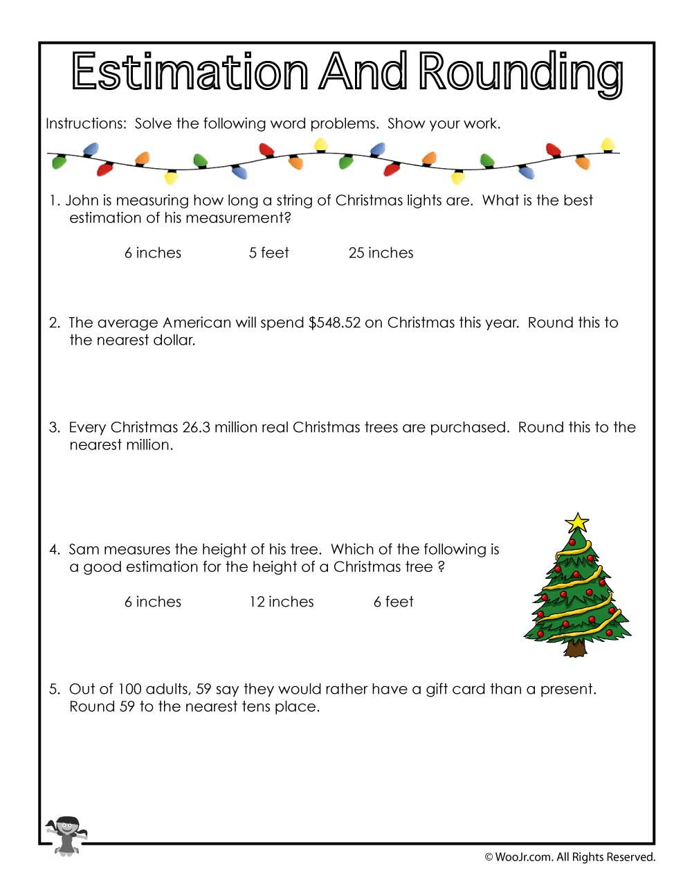 Christmas-Math-Rounding | Woo! Jr. Kids Activities