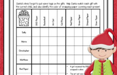 Christmas Worksheets 6th Grade