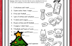 Printable Christmas Worksheets For 4th Grade