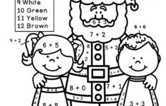 Multiplication Coloring Worksheets Christmas