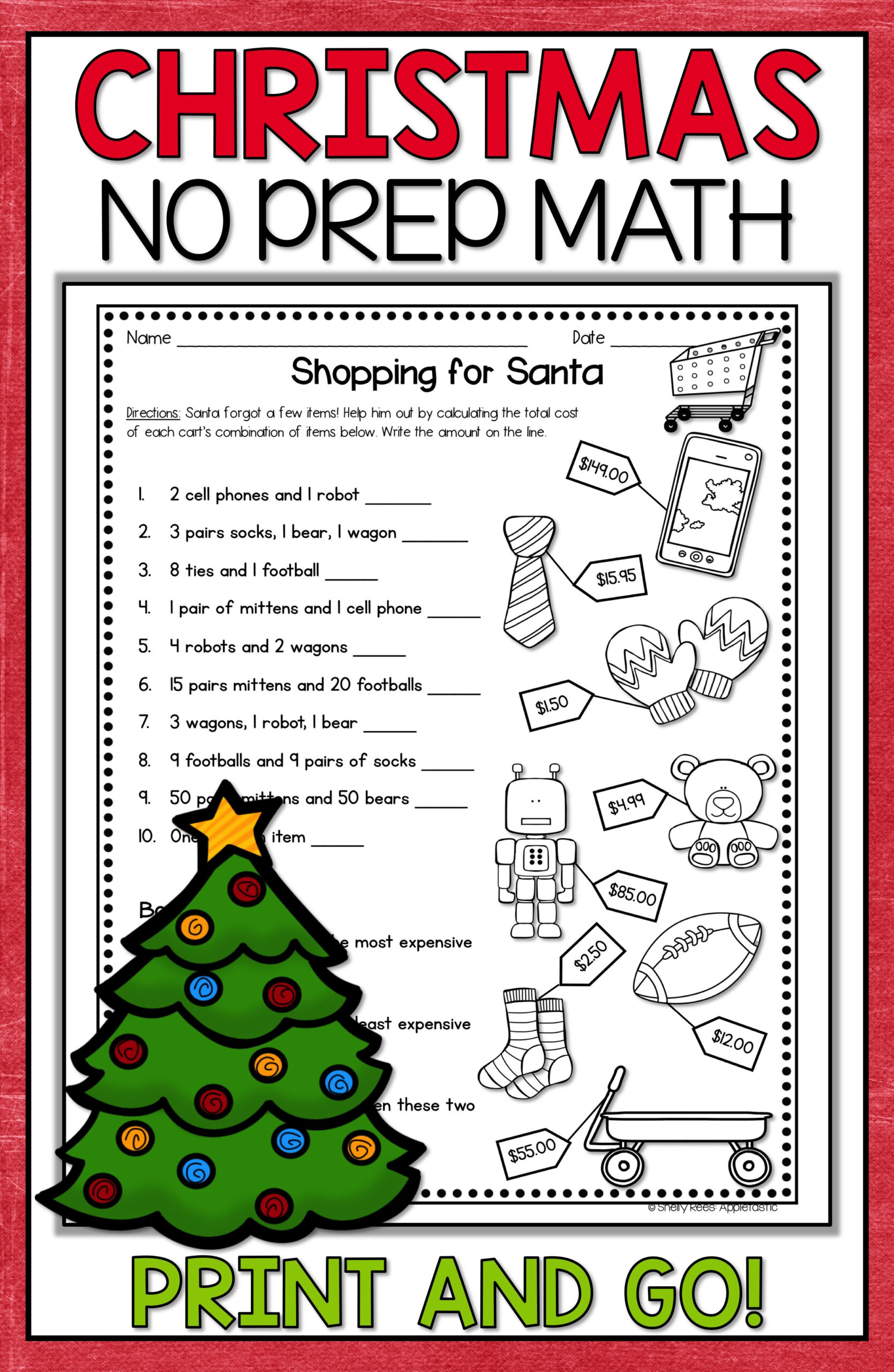Christmas Math Worksheets | Christmas Math Worksheets
