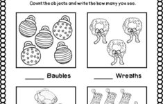 1st Grade Math Christmas Worksheets