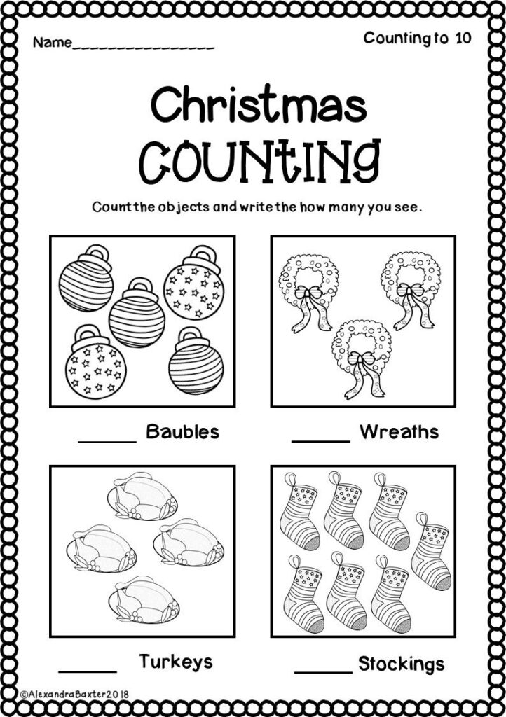 Christmas Math Worksheets For First Grade Telling Time