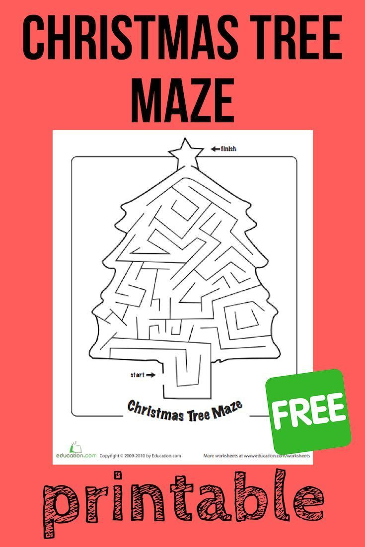 Christmas Maze | Worksheet | Education | Christmas Maze