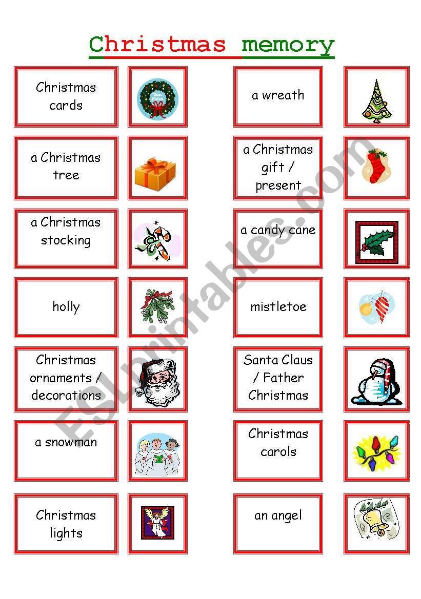 Christmas Memory !!!!!!!!!!!!!!!!!!!!!!!!!!!! 1/2 - Esl