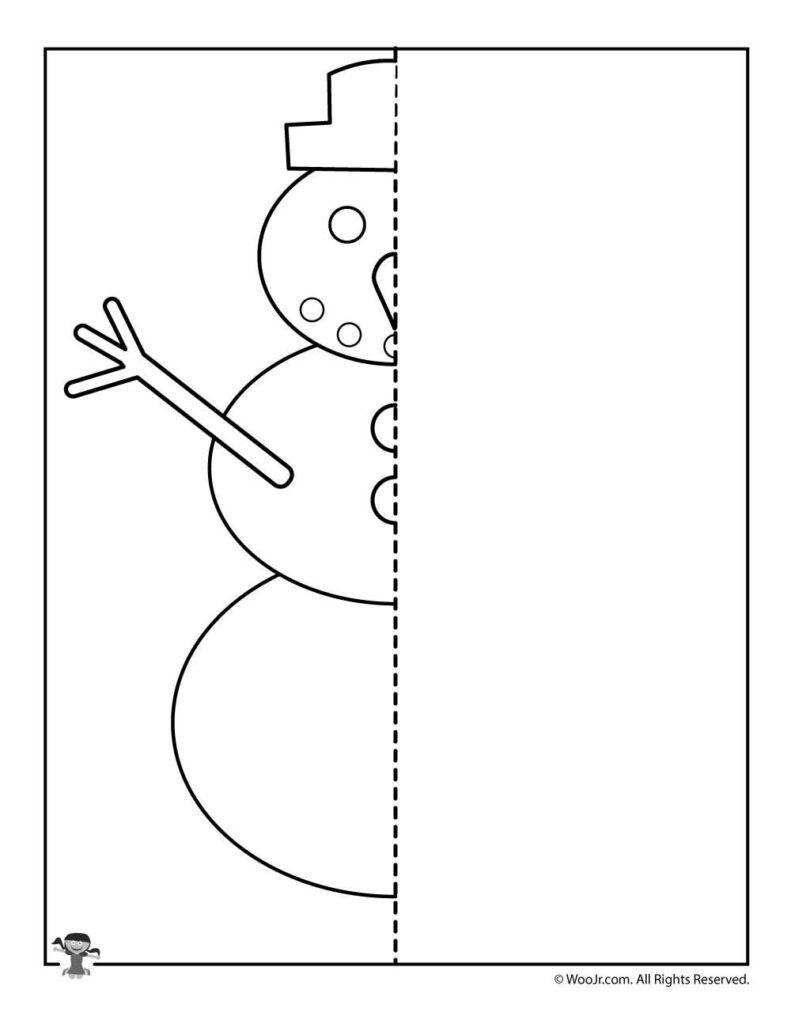 Christmas Mirror Drawing Worksheets | Woo! Jr. Kids