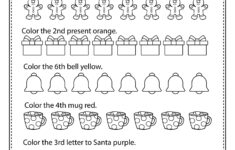 Christmas Ordinal Numbers – Math Worksheets And Activities