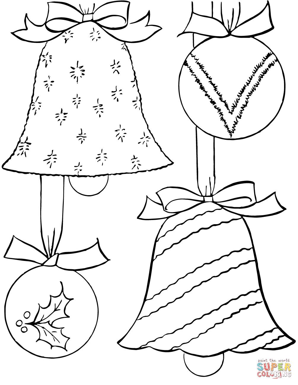 Christmas Ornament Coloringge Sheets Printable Fantasticges