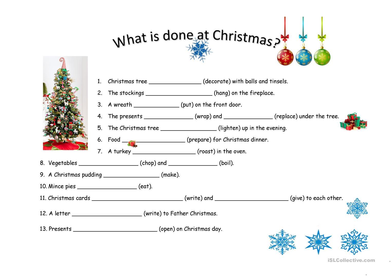 Christmas-Present Passive - English Esl Worksheets For