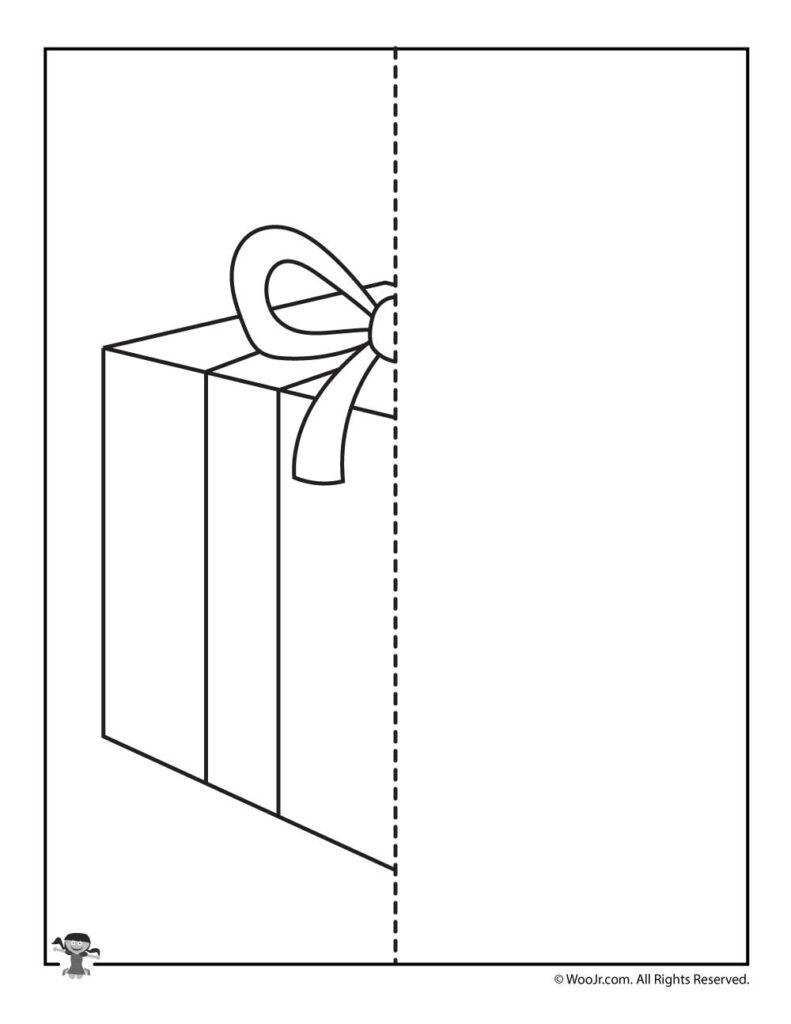 Christmas Present Symmetry Drawing Worksheet | Woo! Jr. Kids