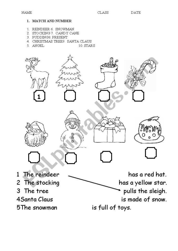 Christmas Primary School   Esl Worksheetamalthea81