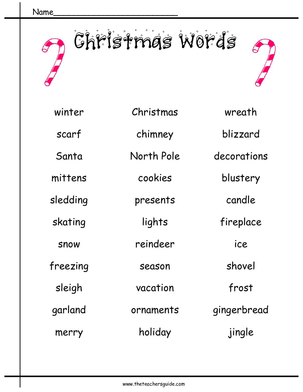 Christmas Printouts From The Teacher's Guide | Christmas