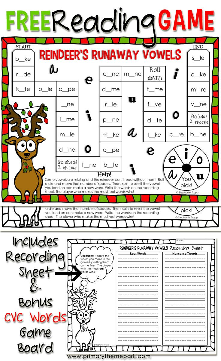 Christmas Reading Game Printable   Christmas Reading
